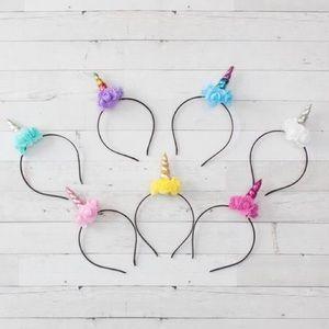 Other - NWT! Boutique Rose Unicorn Headbands